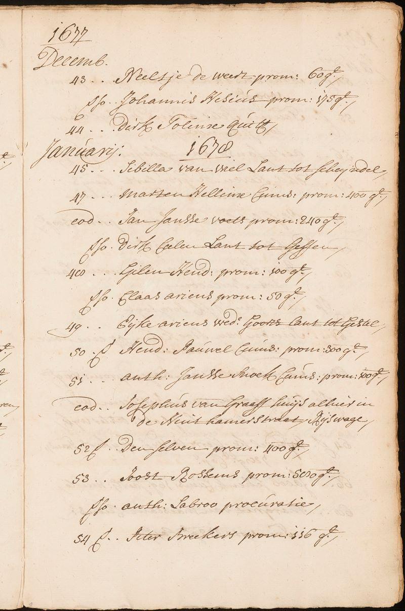 Voorbeeld van een pagina uit de indices (Afdeling Erfgoed, Rechterlijk Archief, inv.nr. 1643, f. 474r)