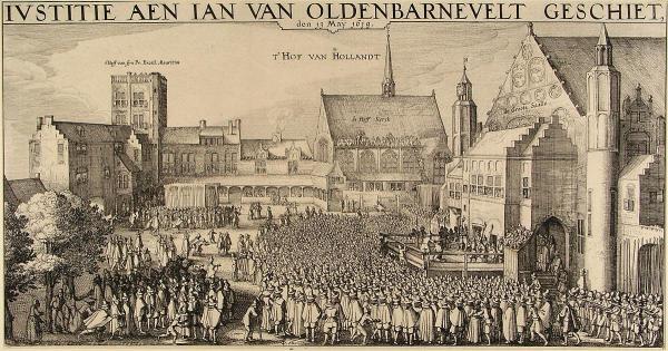 Claes Janszoon Visscher, Ivstitie aen Ian van Oldenbarnevelt geschiet (detail)